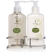The Thymes Olive Leaf Sink Set with Caddy