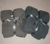 Barefoot Dreams CozyChic Ribbed Throw Charcoal