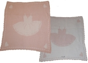 Barefoot Dreams CozyChic Scalloped Receiving Blanket Pink