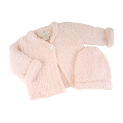 Barefoot Dreams Bamboo Chic Cardigan and Hat Set Pink Small