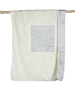 Barefoot Dreams Signature Plush Receiving Blanket Blue