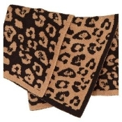 Barefoot Dreams Receiving Blanket Camel/Midnight Leopard