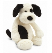 Jellycat Bashful Black & Cream Puppy Large