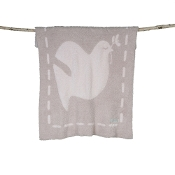 Barefoot Dreams Covered in Prayer Baby Blanket Linen and Cream