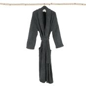 Barefoot Dreams CozyChic Slate Blue Adult Robe Size 1
