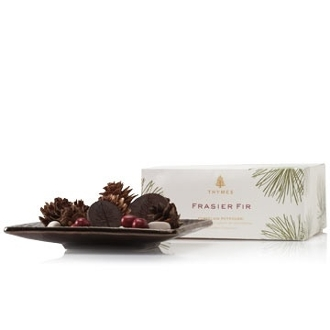 The Thymes Frasier Fir Porcelain Potpourri