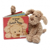 Jellycat A Treat for Fuddle Puppy Book