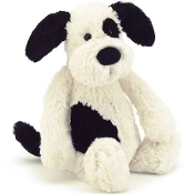 Jellycat Bashful Black & Cream Puppy Really Big