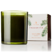 The Thymes Frasier Fir Green Glass Candle