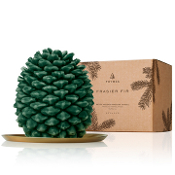The Thymes Frasier Fir Northwoods Pinecone Petite Candle