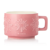 Thymes Hot Cocoa Raspberry Small Mug Candle