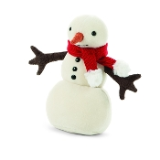 Jellycat Merry Snowman Red Scarf