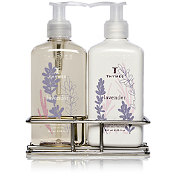 The Thymes Lavender Sink Set with Caddy